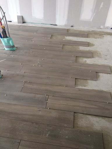 Keramische vloer - parkettegel - Tegels Vanderougstraete