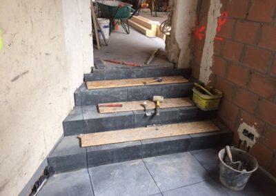 Vloer - natuursteen - trap