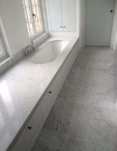 Vloertegels - wit - natuursteen