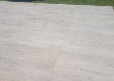 Terras in parkettegels - Tegels Vanderougstraete