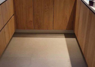 Keukenrenovatie - vloertegels Kortrijk