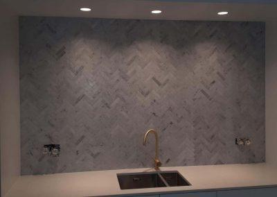 Spatwand Bianco Carrara - spatwand keuken
